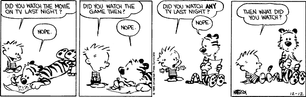 Calvin and Hobbes about TV (2)