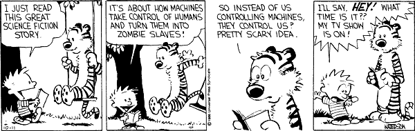 Calvin and Hobbes about TV (1)